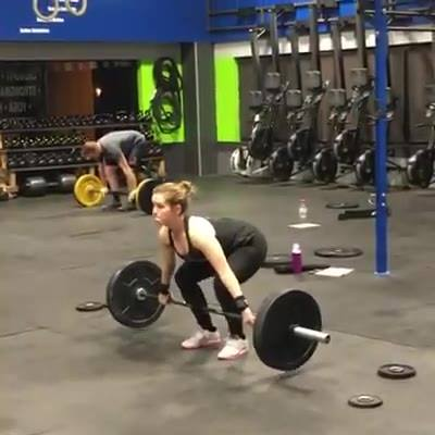 Sam hit new PRs last night! She's made a lot of progress in her lifting, and it shows in both lifts. Way to go Sam!!