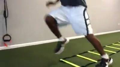 Tightening up that footwork, this is how J.d. Woods spends his holiday vacation! Always grindin!