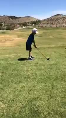 Axel putting work in this week! 4 full days of camp, a junior clinic and a two hour lesson with his sister!