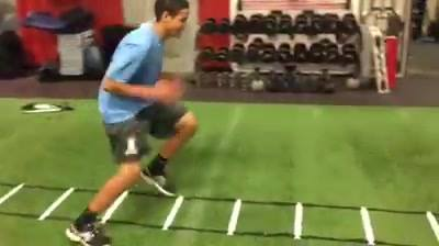 This athlete is here everyday putting his work in. Ladder warmup for his Change of Direction session!