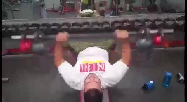 A new way to make the chest burn. The kettle bell shake make your chest have to stabilize it while you bench. Great exer...