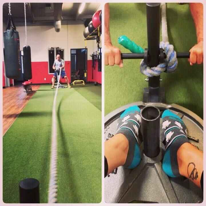 Nothing like a little sled pull and push to get the morning started! #train #trainhard #havefun #fitness #personaltraine...