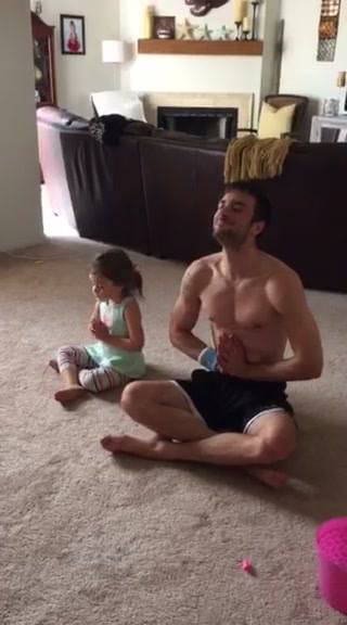 My little Yogi Ava teaching her Uncle Jarret how to do it!