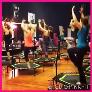 Welcome to OUR House! Join us for the ONLY Jumping Fitness class in VA! #freetrial #nobodyhasfallenoff #studiopinkfit