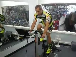 Bret Hoffer getting his Dynamic Bike fit in the Endurance Coaching Studio