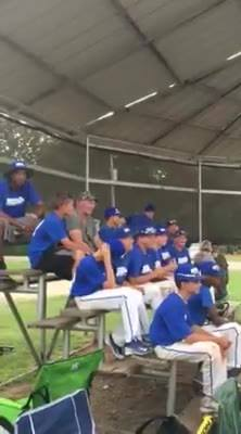 12u team waiting for the Championship Game!